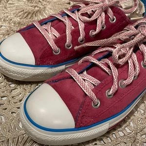 Converse pink velour sneakers